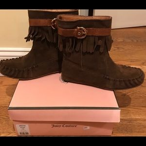 Juicy couture fringe moccasin